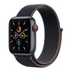 Apple Watch SE GPS + Cellular 40mm MYEL2VN/A Space Gray Aluminium Case with Charcoal Sport Loop