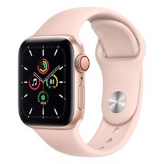 Apple Watch SE GPS + Cellular 40mm MYEH2VN/A Gold Aluminium Case with Pink Sand Sport Band