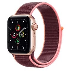 Apple Watch SE GPS + Cellular 40mm MYEJ2VN/A Gold Aluminium Case with Plum Sport Loop