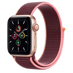 Apple Watch SE GPS + Cellular 44mm MYEY2VN/A Gold Aluminium Case with Plum Sport Loop
