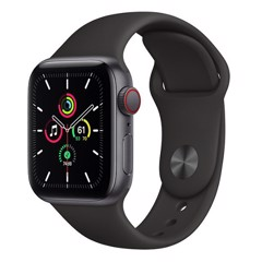 Apple Watch SE GPS + Cellular 40mm MYEK2VN/A Space Gray Aluminium Case with Black Sport Band