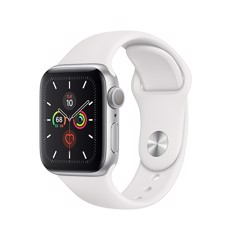 Apple Watch Series 5 GPS 40mm MWV62 ( Silver Aluminum Case with White Sport Band)