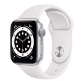 Apple Watch Series 6 GPS 44mm M00D3VN/A Silver Aluminium Case with White Sport Band