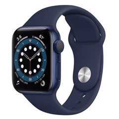 Apple Watch Series 6 GPS 44mm M00J3VN/A Blue Aluminium Case with Deep Navy Sport Band