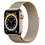 Apple Watch Series 6 GPS + Cellular 44mm M09G3VN/A Gold Stainless Steel Case with Gold Milanese Loop