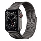 Apple Watch Series 6 GPS + Cellular 44mm M09J3VN/A Graphite Stainless Steel Case with Graphite Milanese Loop
