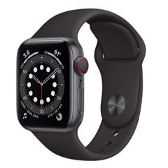 Apple Watch Series 6 GPS + Cellular 40mm M06P3VN/A Space Gray Aluminium Case with Black Sport Band
