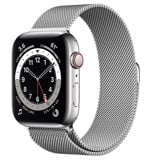 Apple Watch Series 6 GPS + Cellular 44mm M09E3VN/A Silver Stainless Steel Case with Silver Milanese Loop