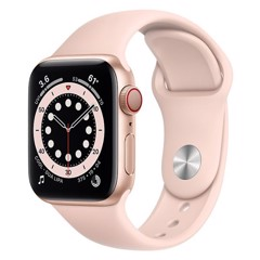 Apple Watch Series 6 GPS + Cellular 40mm M06N3VN/A Gold Aluminium Case with Pink Sand Sport Band