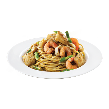 SEAFOOD BLACK PEPPER SPAGHETTI