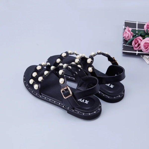 (Nữ) Sandal ngọc trai hai màu