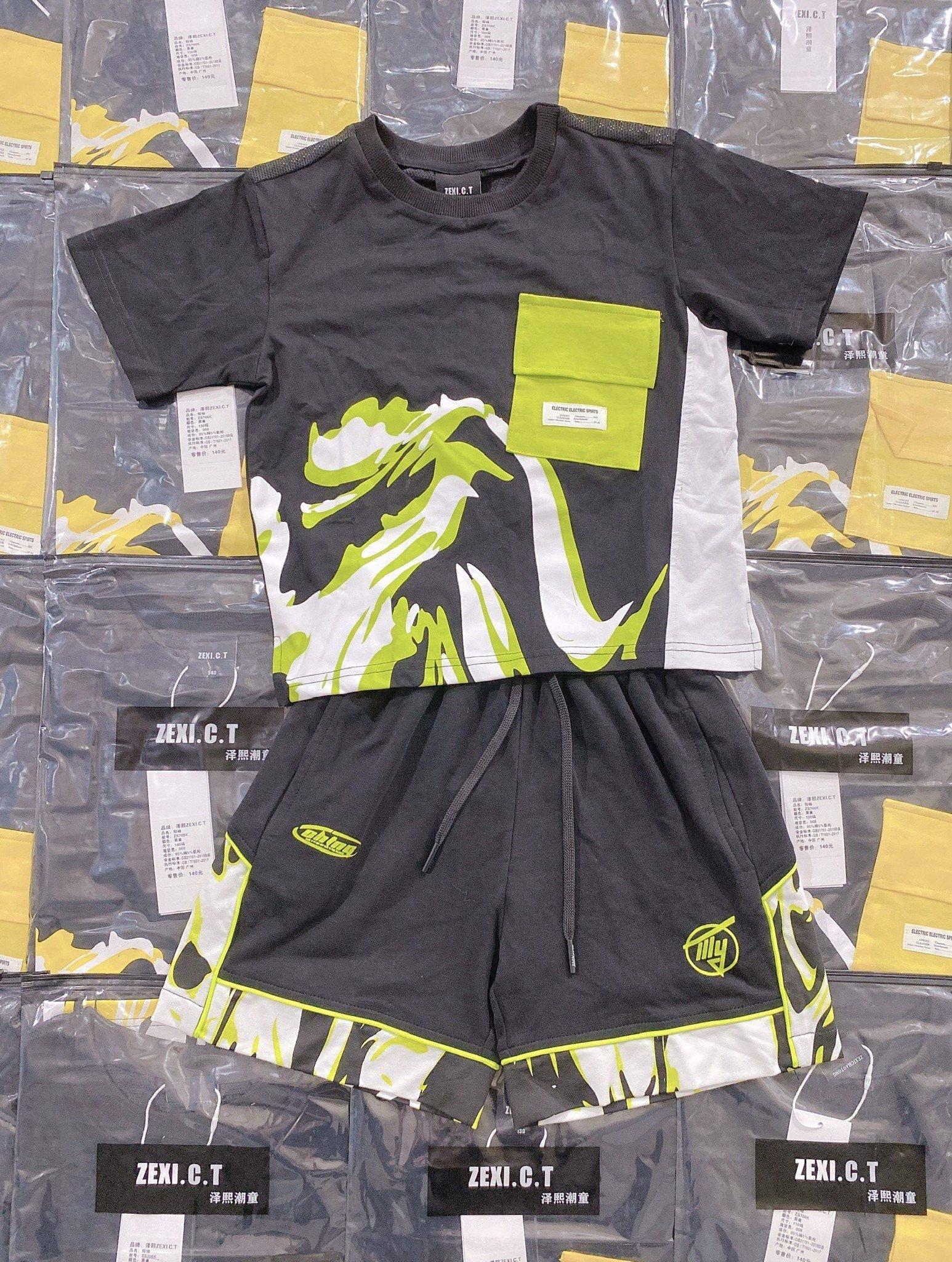 Set bộ ngắn trẻ em áo túi màu TAG ZEXI.C.T ZS706K
