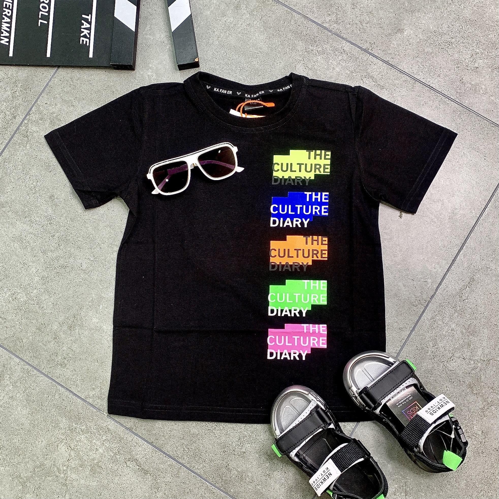 Áo thun ngắn tay trẻ em in ô màu DIARY T28076