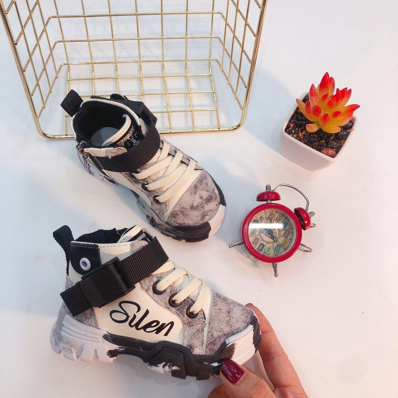 Giày sneaker cổ cao đai rút