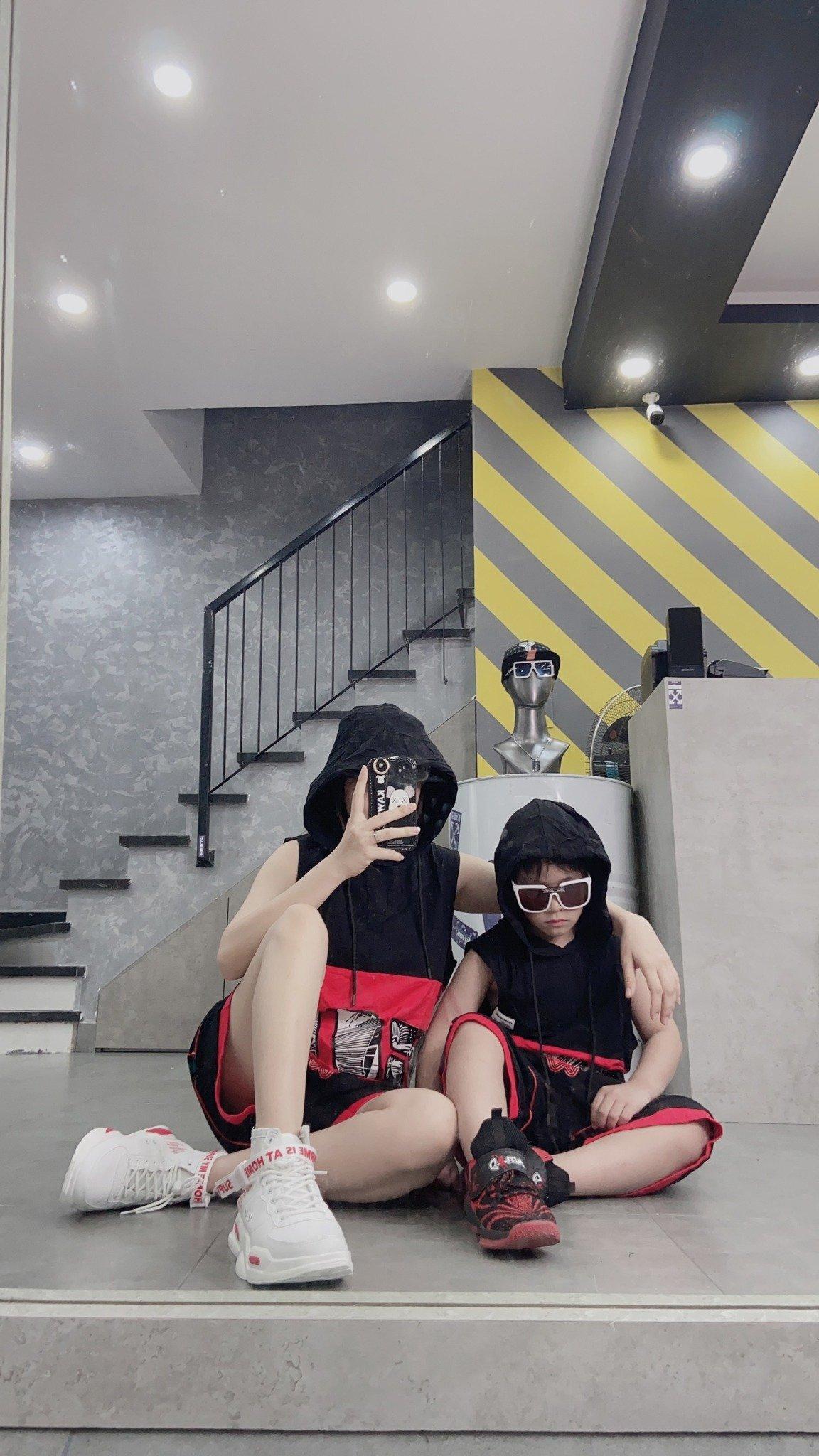 Set bộ ngắn trẻ em sát nách có mũ Tag Yuanchuang quần Zexictng