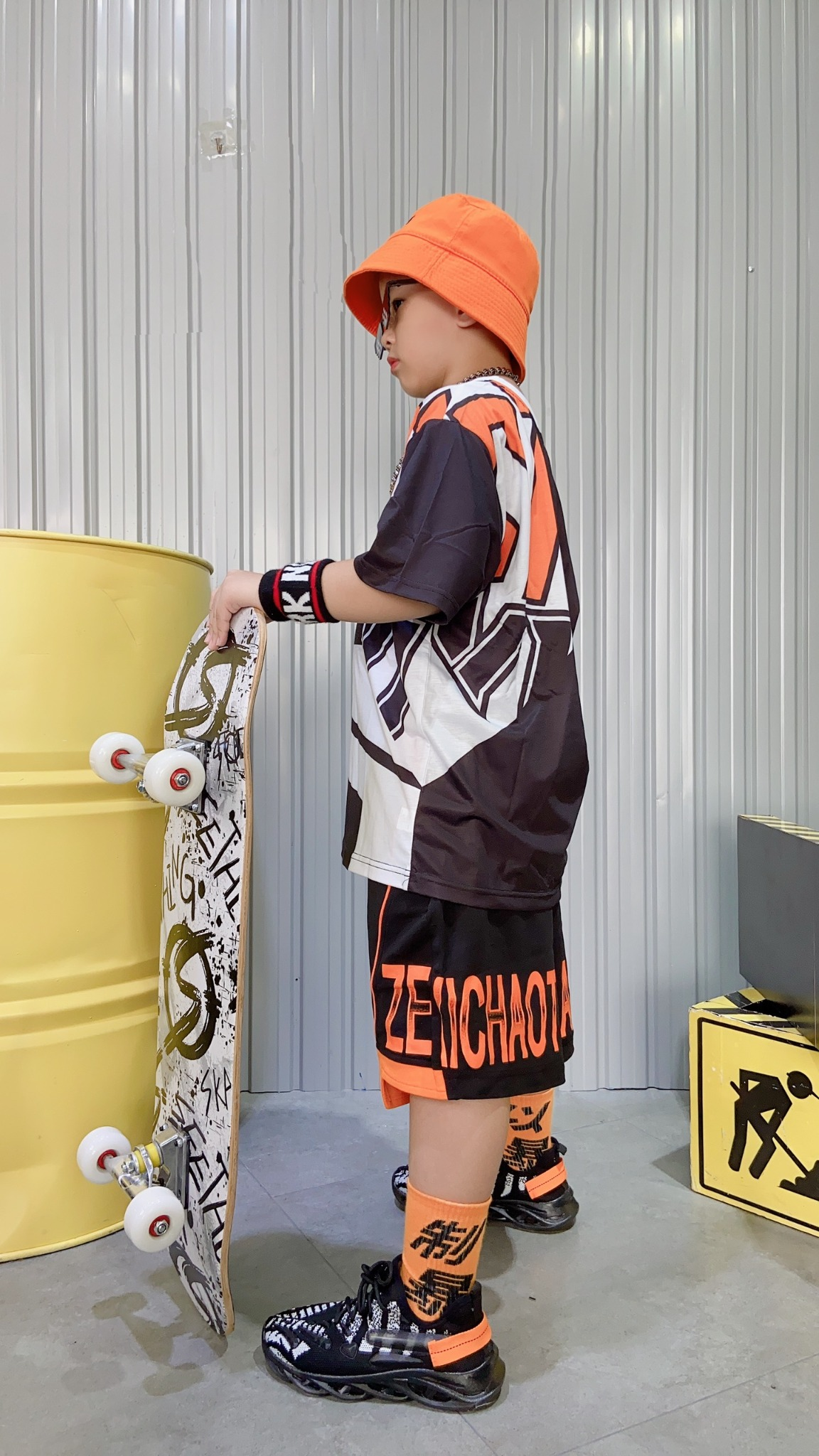 Set bộ ngắn trẻ em áo phối chữ ZEXICTNG quần viền Zexi