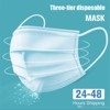 antibacterial cloth  mask 3 layer, 2  dimensions