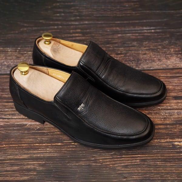 Giày lười nam da bò dáng công sở cổ điển - Đen 75069