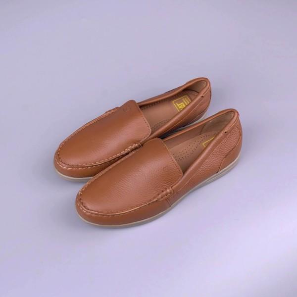 Giày lười xuất dư da bò thật siêu êm
