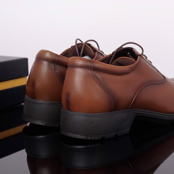 Giày da nam công sở Texcy Luxe nâu vàng xuất Nhật cao cấp