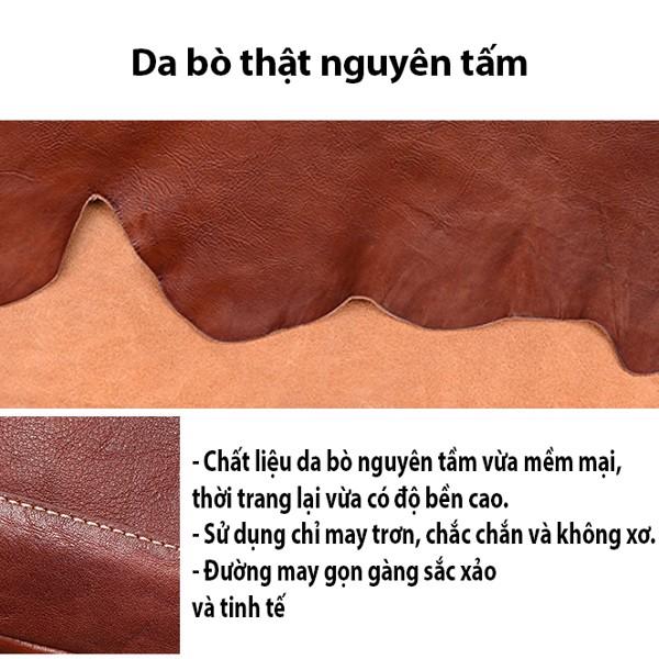 Balo nữ da bò nhuộm thảo mộc - 2085749