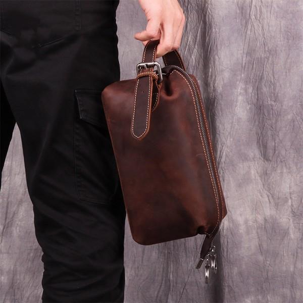 Clutch kiêm túi xách cầm tay da sáp - 1405356