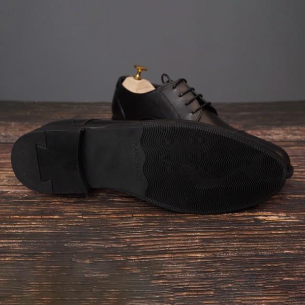 Giày da nam công sở buộc dây Đen - 004-2