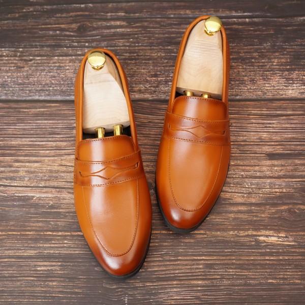 Giày lười da công sở đai ngang- 76799
