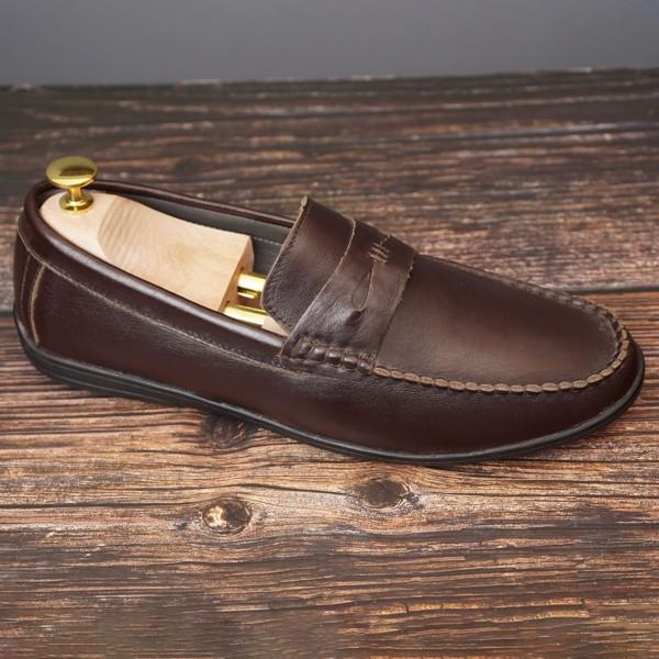 Giày lười da công sở quai ngang đế mềm - 5999