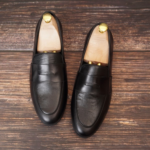 Giày lười da công sở đai ngang - 76812