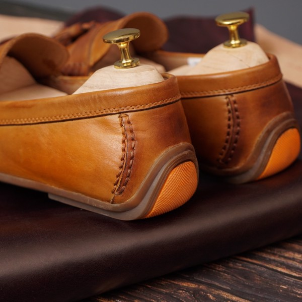 Giày da nam cao cấp - Nâu vàng 0918