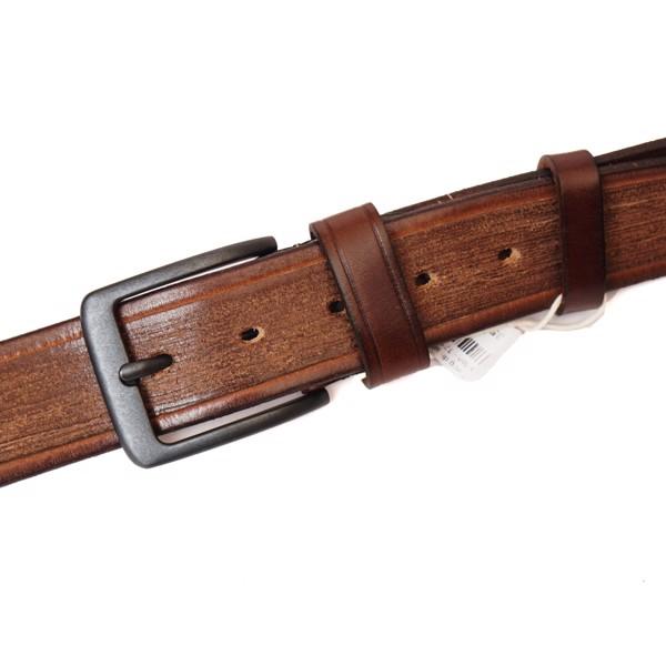 Thắt lưng da sáp bản 3.7 mặt khóa đen - 171721