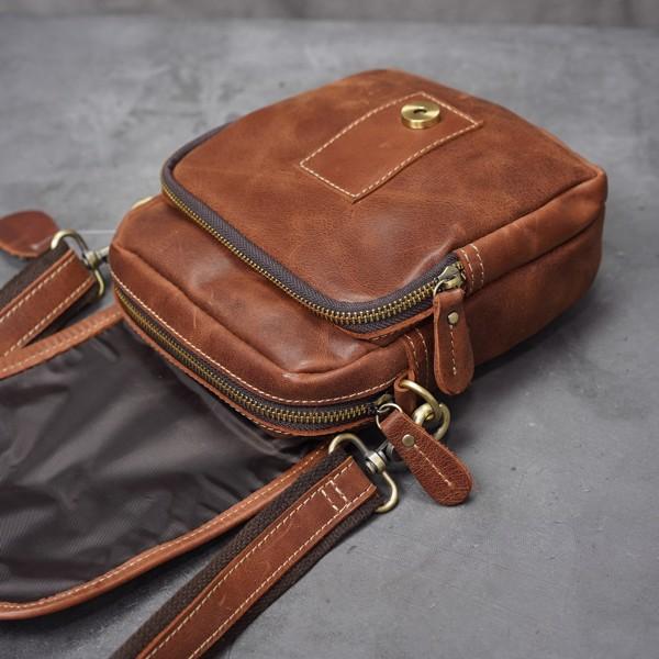 Túi đeo chéo nam mini da bò đa năng - 1133398