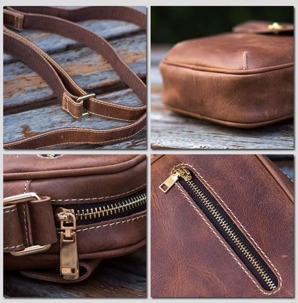 Túi đeo da nam nữ Mini một ngăn - 2115338