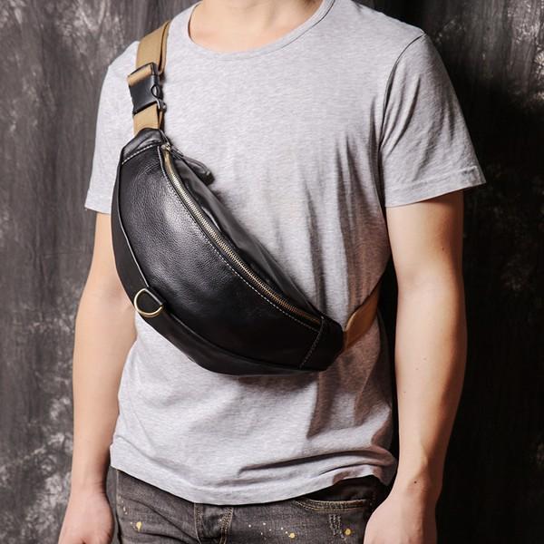 Túi đeo ngực, đeo bụng da bò - 2090690