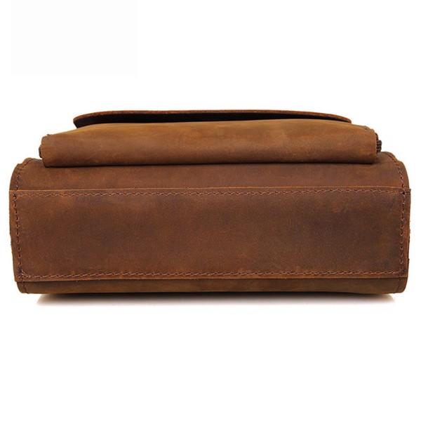 Túi đeo chéo nam da bò sáp nhiều ngăn - 1709299