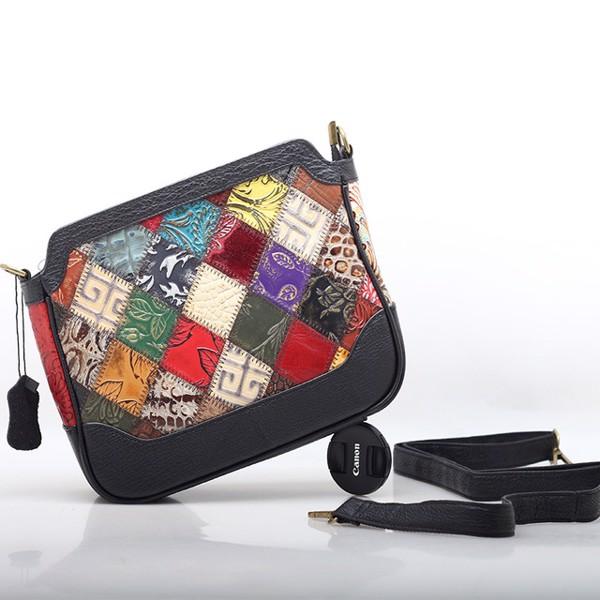 Túi đeo chéo ngang da phối màu ngẫu nhiên - 2091290