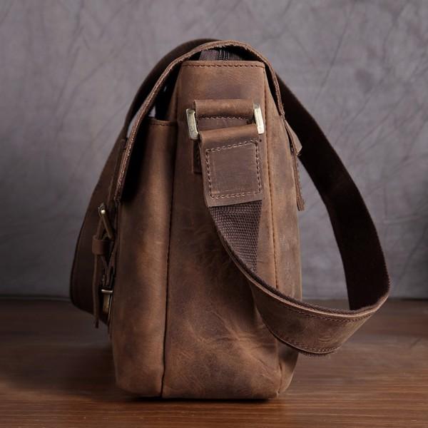 Túi đeo chéo da sáp ngang đựng Ipad - 2090128