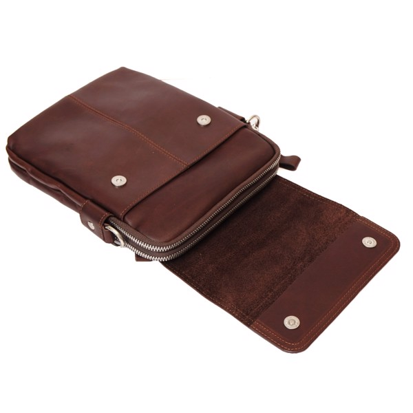 Túi đeo chéo đựng Ipad Mini da thật - Nâu 211488