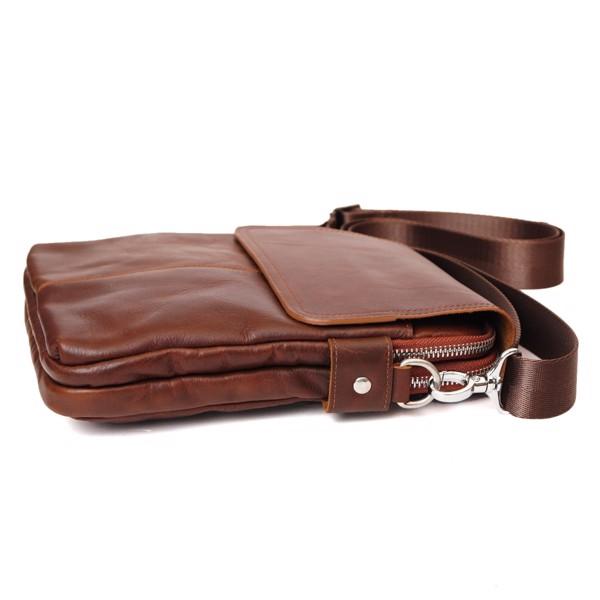 Túi đeo chéo da nam dáng đứng đa năng - Nâu 211496