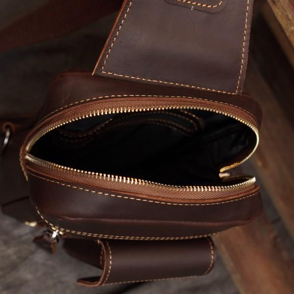 Túi đeo ngực, đeo bụng da sáp ngựa điên - 2437638