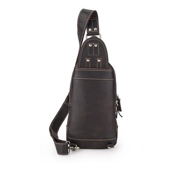 Túi đeo ngực, đeo chéo da sáp cực chất - 2090072