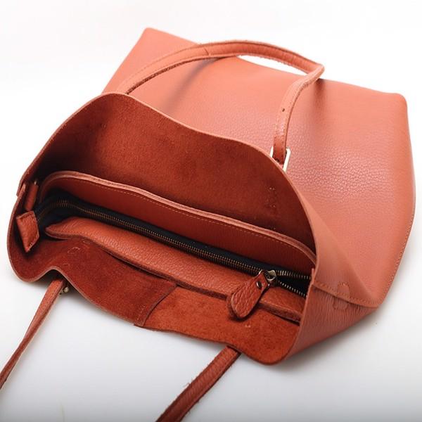 Túi khoác vai nữ da bò đơn giản - 2091275