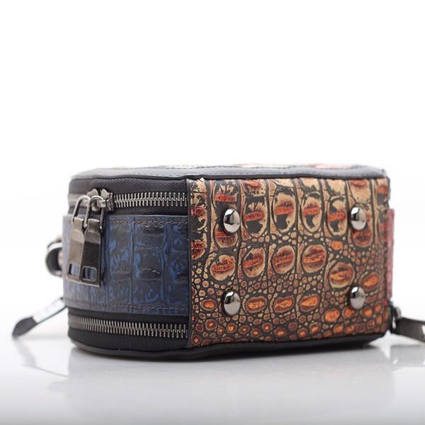Túi xách da nữ cổ điển phối màu ngẫu nhiên - 2091318