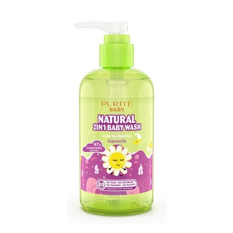 Sữa Tắm Gội Purité Baby Cúc La Mã 250ml |  Natural 2in1 Baby Wash Chamomile 250ml