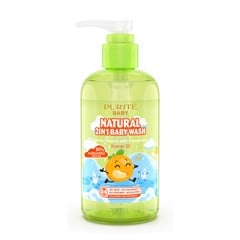 Sữa Tắm Gội Purité Baby Tinh Dầu Cam | Natural 2in1 Baby Wash Orange Oil