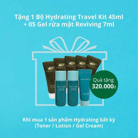 [Gift] Combo Sample 1 Hydrating trial set  45ml + 5 Gel to Foam 7ml