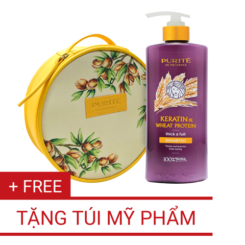 Dầu Gội Keratin & Wheat Protein 650ml | Keratin & Wheat Protein Shampoo 650ml
