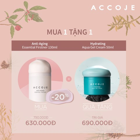 Mua Accoje Anti-aging Essential Firstner Tặng Hydrating Aqua Gel Cream [Trị giá 690.000đ]