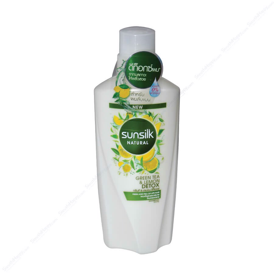 Dầu gội Sunsilk Natural Green Tea Lemon Detox 450ml Thái Lan